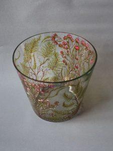 Vaas Forrest, Gebrandschilderd glas, 26 x 30 cm, 2019