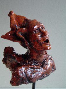Verwondering, Keramiek, 13 x 12 x 8 cm, 2006