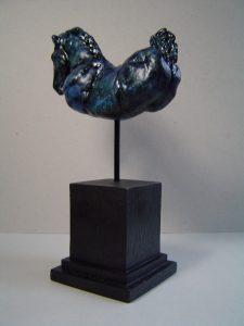 Vrij, gemengde techniek (keramiek/engobes/oxydes), 30 x 6 x 20 cm, 2006