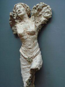 Guardian Angel (BeschermEngel) (wandobject,) keramiek, 10 x 20 x 30 cm, 2008, VERKOCHT