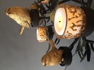 Vogeltjes Boom (Musjes), Smeedijzer, keramiek en gebrandschilderd glas, 75 x 55 cm, 2019